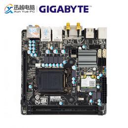 2019 mini itx pci Placa-mãe Gigabyte GA-H77N-WIFI Motherboard H77N-WIFI H77 LGA 1155 i7 i3 i3 DDR3 16G SATA3 USB3.0 DVI Mini HDMI HDMI-E Mini-ITX mini itx pci barato