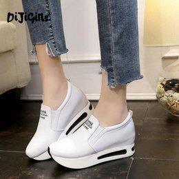 69506f3d Mujeres enredaderas Zapatos de altura creciente Resbalón ocasional en  mocasines Plataforma Tacón de cuña Moda Banda elástica Calzado Envío de la  gota