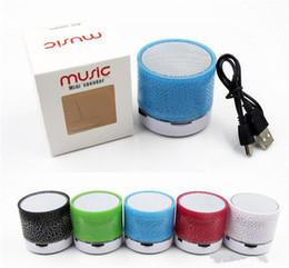Altoparlanti Bluetooth LED Altoparlante stereo A9 Altoparlante portatile Mini Bluetooth senza fili Subwoofer TF Card USB Radio FM Audio Music Player DHL da lettore di usb per gli altoparlanti fornitori