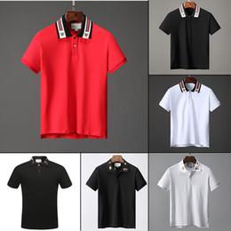 2019 camisa pólo homens esfriar Novo estilo de moda dos homens polo camisa mangas finas confortável polo camisa dos homens verão fresco desgaste W29 camisa pólo homens esfriar barato