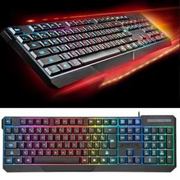 2019 teclado, negócio MOTOSPEED K70 Teclado Com Fio À Prova D 'Água Colorido LED Backlight Gaming Business USB teclado, negócio barato
