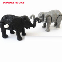 Pequenos animais de brinquedo on-line-Venda quente Crianças Correndo Cadeia Clockwork Pequenos Brinquedos elefante Infantil Bebê Primeiro Encantador Elefante Animal Dos Desenhos Animados Wind Up Brinquedos