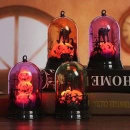 Lampara led naranja online-BRELONG escena de la lámpara de calabaza de Halloween pantalla pequeña decoración de escenario pequeña decoración de la oficina en el hogar púrpura / naranja / rosa 1 pc