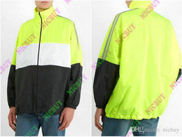 2019 designer de moda mens marca clothing blusão carta impressão patchwork cor malha dentro zip streetwear outwear jaqueta de Fornecedores de jaquetas de militare aeronáutica