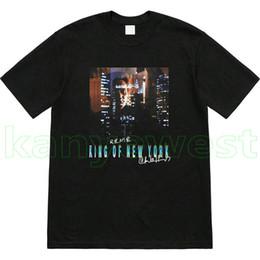нью-йорк печатные футболки Скидка 19SS новое прибытие Роскошные мужские Король Нью-Йорка печати футболка Мода Высокого Качества Дизайнерские футболки хлопок Топ футболка Повседневная Футболки