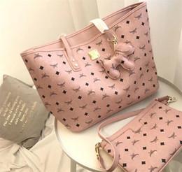sacos de designer marrom escuro Desconto Rosa Sugao Marca Carta Bolsa Dois Pcs Conjunto de Alta Qualidade para a Menina Mulheres Bolsas de Ombro Sacos 3 cores Disponíveis Saco Da Marca Quente Estilo Famoso