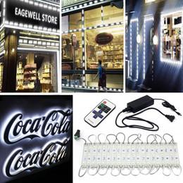 L'iniezione delle luci del modulo principale online-Moduli LED 20FT 40pcs Kit vetrina LED per vetrina vetrina 5630 Lampada LED per iniezione a LED con spina di alimentazione 3A e telecomando