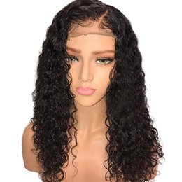 vietnamese hair Promo Codes - Curly Full Lace Human Hair Wigs For African Americna Women Remy Preplucked Brazilian Hair Curly Lacefront Wig With Baby Hair Bleached Knots