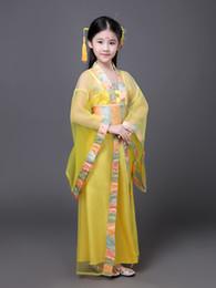 2019 vestido vermelho chinês do miúdo Online chinês loja Vintage estilo Carnaval roupas para uma menina Linda rosa vermelho azul lavanda amarelo princesa vestido Kids desconto vestido vermelho chinês do miúdo