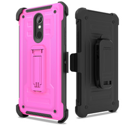 rugged cases belt clip Coupons - Defender Rugged Kickstand Holster Case for LG Q7 Plus G7 ThinQ K10 2018 Stylo 5 4 Shockproof Full Protective Cover with Belt Clip