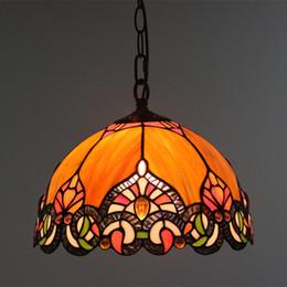 12v коммерческое освещение Скидка Европейский стиль витражи подвесные светильники винтажная столовая Hanglamp бар кафе ресторан светильник Suspendu