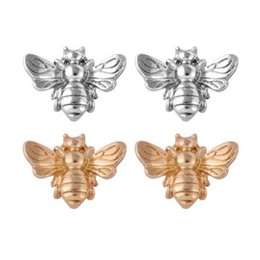 cute womens jewelry Coupons - Cute Bees Ear Studs Womens Jewelry Fashion Accessories Alloy Gold Silver Plated Stud Earrings
