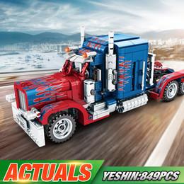 Modelos de camiones de juguete contenedor online-Cambie la serie Technic 701 803 389 849PCS pesados contenedores Camiones bloques de construcción juguetes modelo clásico de Navidad para regalos de los niños