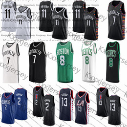 dauernde basketball-trikots Rabatt Ncaa 11 Irving-Trikot Kevin 7 Durant Kemba 8 Walker Kawhi 2 Leonard Paul 13 College-Basketball-Trikots von George Mens