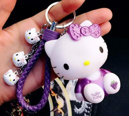 hello kitty resins Coupons - 1Pcs cartoon hello kitty Keychain party  activity small gift bag Jewelry d2bcb512f65fd
