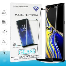 Protector de pantalla templado s6 online-Protector de pantalla para Samsung Galaxy Note 9 8 S9 S8 Plus S7 S6 Edge Note9 Cristal templado 3D Curve Edge HD Protector de pantalla transparente