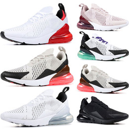 Canada nike air max 270 Nouvelles chaussures de course Triple Black blanc à peine rose University Red Black Dot Grape Tiger mens femmes baskets de sport formateurs chaussures taille 36-45 supplier red dot shoes Offre