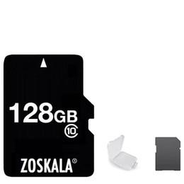 Carte sd 4gb 2gb en Ligne-DHL 100% Authentique Authentique Carte Micro SD ZOSKALA 16Go 32Go 64Go Classe 10 Capacité réelle Carte MicroSD 1G 2Go 4Go 8Go Classe 6 Carte mémoire TF C10