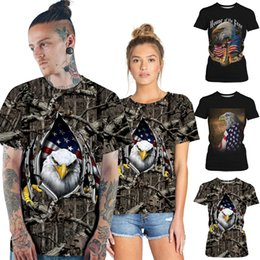 b90c6af22a 3 styles Stripe Star 3D Digital Printed T-shirt Loose Leisure Short Sleeves Tee  shirts couples matching clothes designer clothes DHL JY276