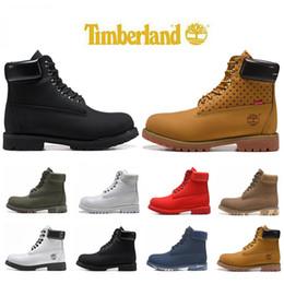 Homens sapatos casuais para o inverno on-line-Timberlandbotas Designer Mens Inverno Luxo Botas Top Quality Moda Sneakers Womens Casual tornozelo Triplo militar preto Camo Shoes