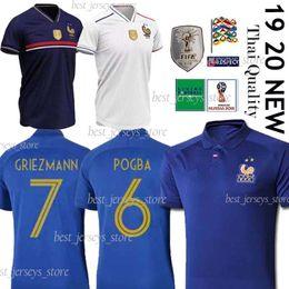 Argentina 100a camiseta de fútbol tailandesa de 2 estrellas GRIEZMANN KANTE MATUIDI POGBA SIDIBE camiseta de fútbol maillot de foot supplier stars soccer jerseys Suministro