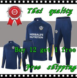 Vêtements de sport en Ligne-Top 2020 Los Angeles Galaxy Soccer Tracksuit Chiharito Track Costumes Jacket 20 21 La Galaxy Entraînement Converses Sports Porter