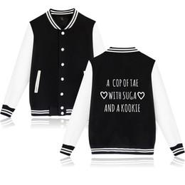 Deutschland BTS A COP mit Zucker und Kookie Jacke Mantel Mode Korea KNOP Print Jacke Kleidung Mantel lässig cheap fashion korea jacket Versorgung