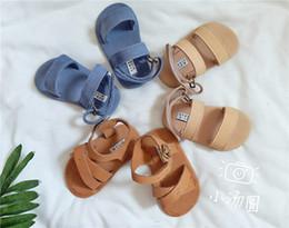 lenzuola in gomma Sconti INS Summer Brand Baby Shoes Prima Walker Indoor Ragazzi Bambino in vera pelle Ragazze Infantili Soft Sole Baby Hook Mocassini stivali