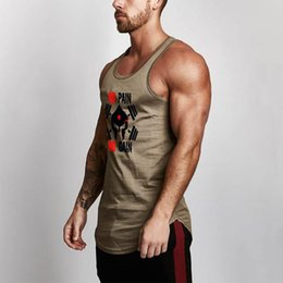 873f8f697e3e5 Muscleguys 2018 Summer Mesh tank tops Men Fitness Silm Fit Vest Skulls  printed male fashion O-neck casual work out singlets  105403 tank top  skulls on sale