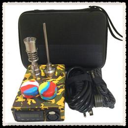 Canada Titane portable enail Clou DAB électrique Contrôle de la température PID E D Nail Dnail kit vaporisateur de cire 16 / 20MM plate-forme pétrolière en verre bong DHL Offre