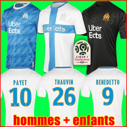 marseille soccer jersey Coupons - 19 20 Olympique De Marseille soccer jersey OM jerseys 2019 2020 maillot de foot PAYET THAUVIN 120 years football shirt 120th anniversary