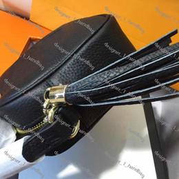 borlas de cuero para bolsos Rebajas Bolsos de diseño SOHO DISCO bolso de cuero genuino borla bolsas con cremallera de hombro mujeres del bolso de Crossbody del diseñador vienen con la caja