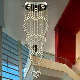 lâmpadas penduradas de cristal Desconto Modern Minimalista Sala de estar Quarto Lustre de Cristal de Teto Luz Lustres de iluminação Pendurado fio de Cristal lâmpada Lustre Lustre