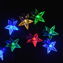 Estrela decorativa da luz de natal on-line-2 Metros 20 LED Star Light Cordas Guirlandas de Cintilação Alimentado Por Bateria de Natal Lâmpada de Festa de Feriado Do Casamento Luzes Decorativas de Fadas
