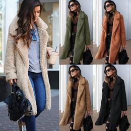 2019 сексуальные пальто Новая мода полушерстяные пальто женщины с длинным рукавом отложным воротником флис стекались длинные плюс размер Сексуальная ветровка шерсть смеси пальто скидка сексуальные пальто