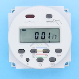 Relé temporizador dc online-Venta caliente Nuevo OP-DC 12V Digital LCD Temporizador programable de encendido Mejor Interruptor de tiempo Relé 16A al por mayor