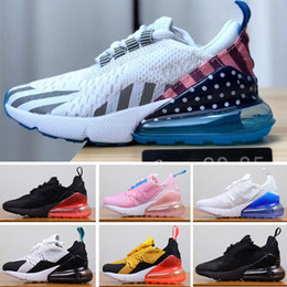 Zapatos de moda para niños baratos online-Nike air max 270 Riginal Niños Entrenadores deportivos Moda Zapatillas de baloncesto para niños Baratos Nuevos bebés niños Niñas con cordones Zapatillas de deporte tamaño 28-35