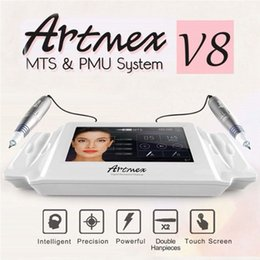 billige wickelmaschinen Rabatt Artmex V8 Permanent Make-Up Tattoo Maschine Digitale Elektrische Augenbraue Lip Rotary Pen MTS PMU System Makeup Maschine