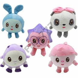 """Juguetes de erizo online-5 """"15-20 cm de dibujos animados Malyshariki Smeshariki peluche juguete erizo Kikoriki Nyushenka pandochka juguetes de peluche niños regalos"""
