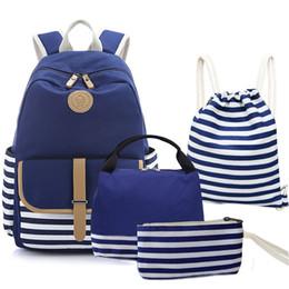 Bolsa de lona em listrado on-line-9styles listrado ombro mochila de lona Fringe Mochilas Estudante Saco de livro com Purse Laptop Bagpack listrado Patchwork Zipper Bags GGA3130
