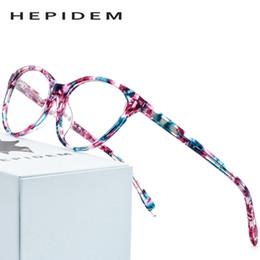 предписания для очков Скидка Acetate Optical Glasses Frame Women  Designer Cat Eye Prescription Eyeglasses 2019 New Female Cateye Spectacles Eyewear