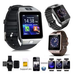 Caméra gsm regarder en Ligne-dz09 smartwatch montre intelligente reliant intelligemment relogio bluetooth relogios Android 2G GSM montre connecter montres