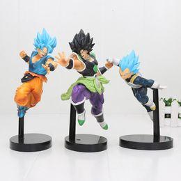2019 figurine de films 19-22 cm Dragon Ball Z Super Ultimate Soldats de Broli Fils Goku Vegeta Le Film Broly Pvc Figurine Jouets C19041501 figurine de films pas cher