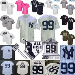 rosa para crianças Desconto Jérsei de juiz de Aaron New York Baseball Yankees Jersey Homens Mulheres Juventude Kid All Rise Martelo Ment Day Patch All Costurado