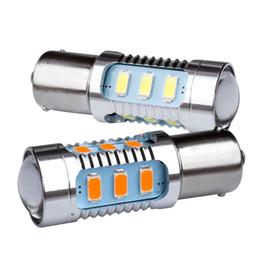 1156 светодиодный индикатор высокой мощности Скидка 2pcs 1156 12 5630 SMD BA15S P21W High Power LED lamp Yellow Amber Turn Signal Red Tail light bulb White Reverse lights 12V