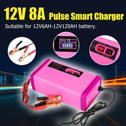nuova batteria al litio 12v Sconti Nuovo 12V 8A 6-120Ah Auto automobile intelligente banca di potere Caricabatterie Vai Starter 100-240V per l'attrezzo batteria al litio Auto Moto