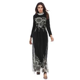 6c31b668f5 lace chiffon patchwork embroidery Abaya Dubai muslim women style party  dresses Arab Evening gown New Female