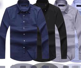 2019 herren-designer-shirts Mens Designer-Kleid Shirts Qualitäts-Geschäfts-Polo-Hemd Pony-Stickerei Marke weißes Hemd Ralph Lauren Luxus Männer Shirts günstig herren-designer-shirts
