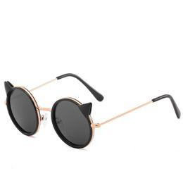 Occhiali da sole designer carino online-Cat Eye Designer Occhiali da sole per bambini Fashion Girl Boy Cute Sun Glass Kids Gradient UV400 Lovely Eyewear