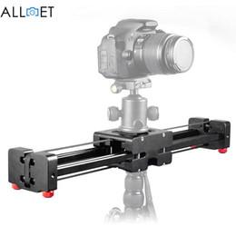Freeshipping schwarz DSLR Kamera Video Slider Dolly 50 cm Schiene Stabilisator 100 cm Schiebeabstand für Canon Nikon Sony Stabilisatoren von Fabrikanten